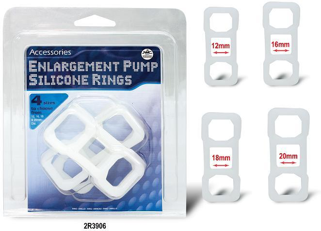 COCKRING SILICON ENLARGER RINGS PACK OF 4