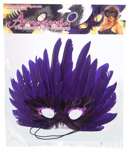 MASK PURPLE FEATHER
