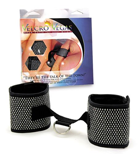 CUFFS  WRIST DIAMOND PATTERN VELCRO ** ON SPECIAL **