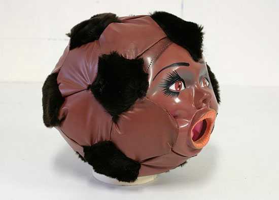 blow up doll soccer ball